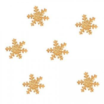 6 Petits Flocons Or - Sucre (2.5 cm)