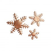 Assortiment 5 Flocons Bronze - Sucre