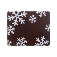 2 Embouts de Bûche Flocons blancs - Chocolat noir