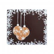 2 Embouts de Bûche Boules de Noël - Chocolat au lait