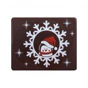 2 Embouts de Bûche Pingouin de Noël - Chocolat noir