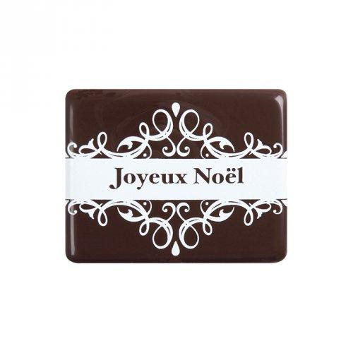 3 Plaquettes Joyeux Noël (5 cm) - Chocolat noir