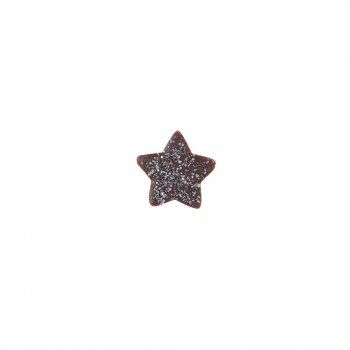 5 Petites Etoiles Argent (2 cm) - Chocolat noir