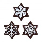 3 Etoiles Flocons (3,8 cm) - Chocolat lait