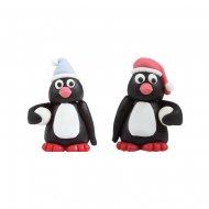 2 Pingouins 3D (4 cm) - Sucre