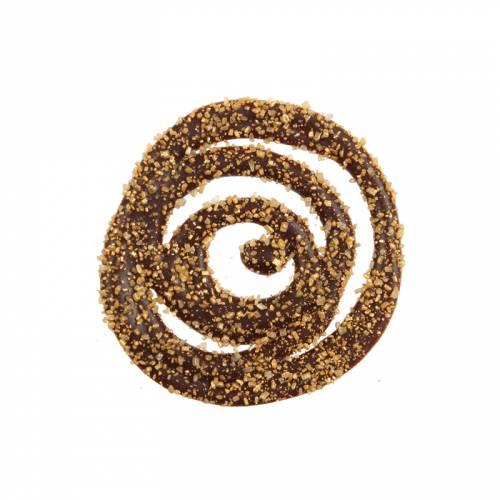 2 Spirales Or (4 cm) - Chocolat noir