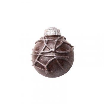 2 Boules de Noël Demi-sphères 2D (3 cm) - Chocolat noir