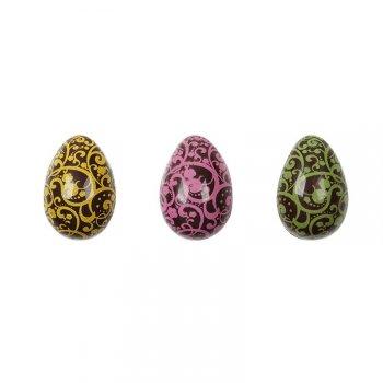 3 Petits Oeufs Arabesques 3D (3,5 cm) - Chocolat noir