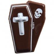 4 Mini Cercueils (3,5 cm) - Chocolat noir