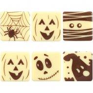 5 Carrés Halloween Fantaisie - Chocolat Blanc