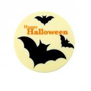 Disque Chauve-Souris Halloween (12 cm) - Chocolat blanc