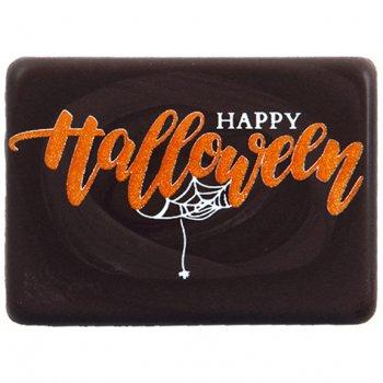 4 Plaquettes Happy Halloween (4 cm) - Chocolat noir