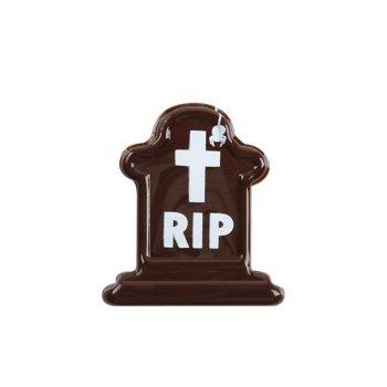 3 Pierres Tombales RIP Medium (3.5 cm) - Chocolat noir