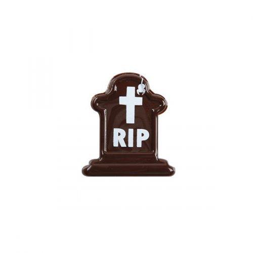 5 Pierres Tombales RIP Mini (3 cm) - Chocolat noir