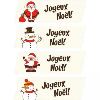 2 Plaquettes Joyeux Noël (3,5 cm)