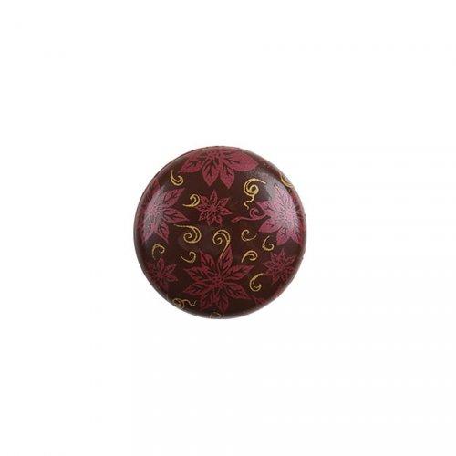 2 Pastilles Noël Rouge (3,5 cm) - Chocolat au Lait