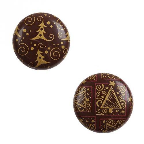 2 Pastilles Noël Or (3,5 cm) - Chocolat au Lait