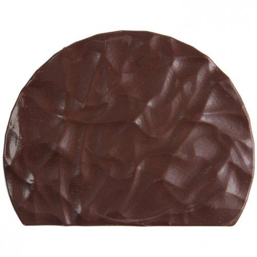 2 Embouts de Bûche Relief Rock - Chocolat Noir
