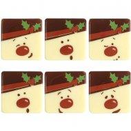 5 Plaquettes Bonhommes de Neige (3 cm) - Chocolat Blanc