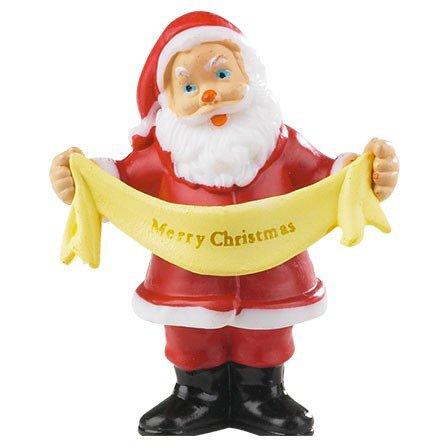 2 Pics Père Noël 3D - Plastique