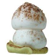 10 Petits Champignons sur Feuille (1,9 cm) - Sucre