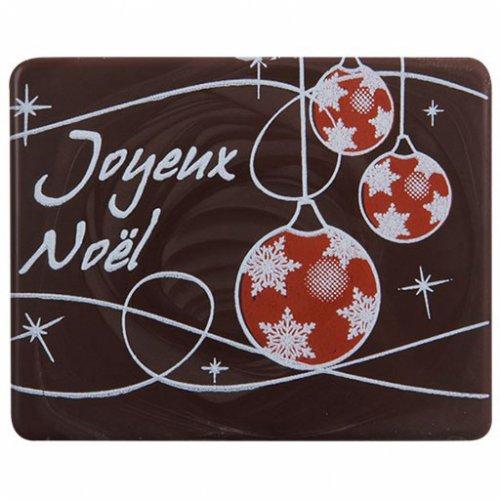 3 Plaquettes Joyeux Noël (5 cm) - Chocolat