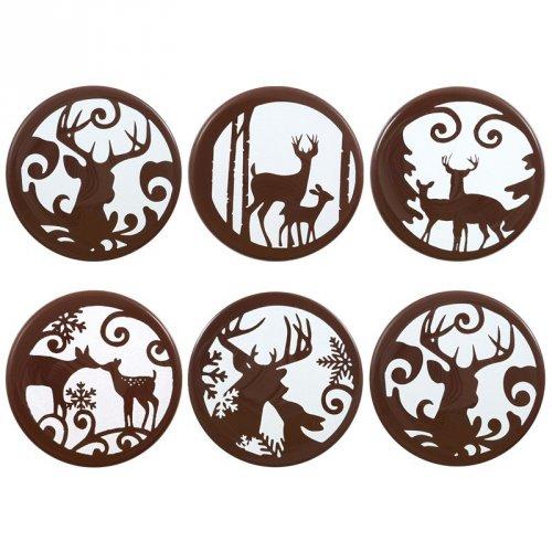 3 Pastilles Rennes Féérie (5 cm) - Chocolat noir
