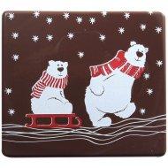 2 Embouts de Bûche Ours Polaire - Chocolat noir
