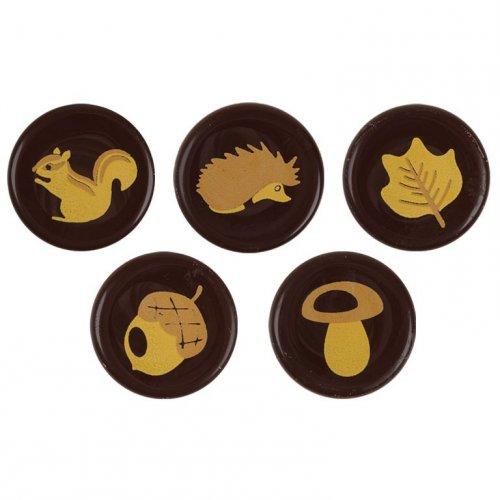 5 Pastilles Déco Automne - Chocolat Noir