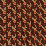 1 Feuille de transfert Alimentaire Renne Rudolph (pour Chocolats)