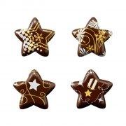 4 Etoiles Noël Or (3 cm) - Chocolat Noir