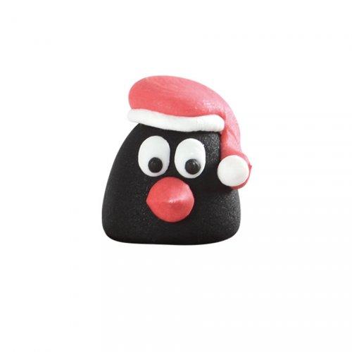 Pingouin Noël 3D - Massepain