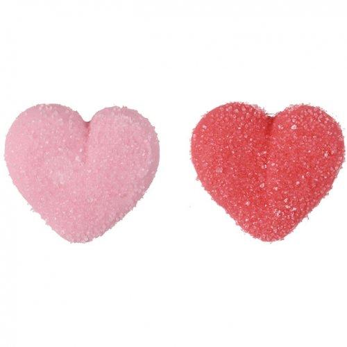2 Coeurs Rouge + 2 Coeur Rose