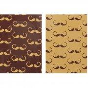 4 Plaquettes Moustache (3,5 cm)