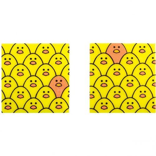 5 Carrés Multi Poussins (3 cm)