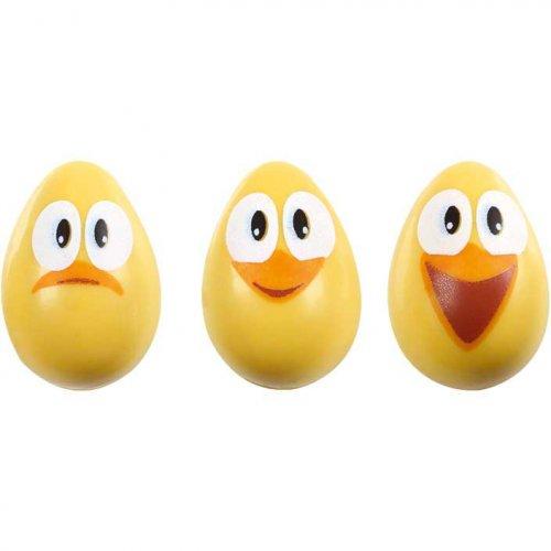 4 Petits Oeufs Choco Poussins Smiley (vides)