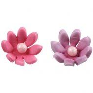 3 Marguerites 3D Rose/Violet (2 cm)