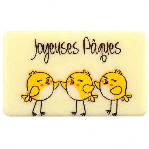 5 Plaquettes Joyeuses Pâques Poussins - Chocolat