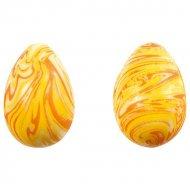 2 Petits Oeufs Choco Marbrés Orange (vides)