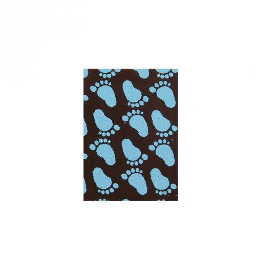 4 Plaquettes Naissance Bleu Chocolat (3,5 cm)