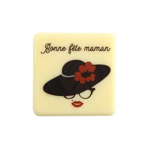2 Carrés Bonne Fête Maman (3,8 cm)