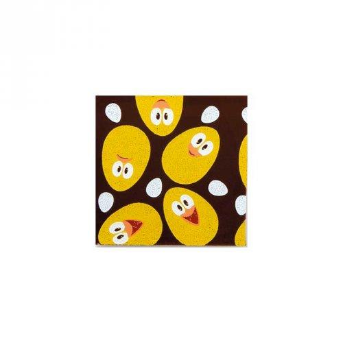 4 Carrés Poussins Chocolat (3,5 cm)