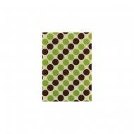 5 Plaquettes Pois verts et brun Chocolat (3,5 cm)