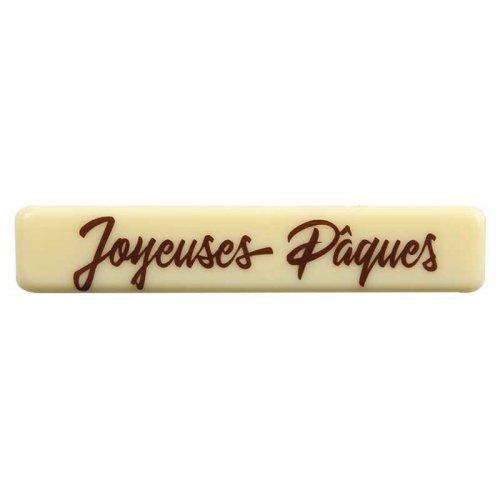 3 Plaquettes Joyeuses Pâques Chocolat (7 cm)