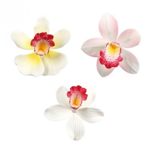1 Fleur Orchidée (6 cm) - Non comestible