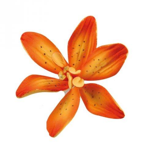 1 Fleur de Lys Orange (4,8 cm) - Non comestible