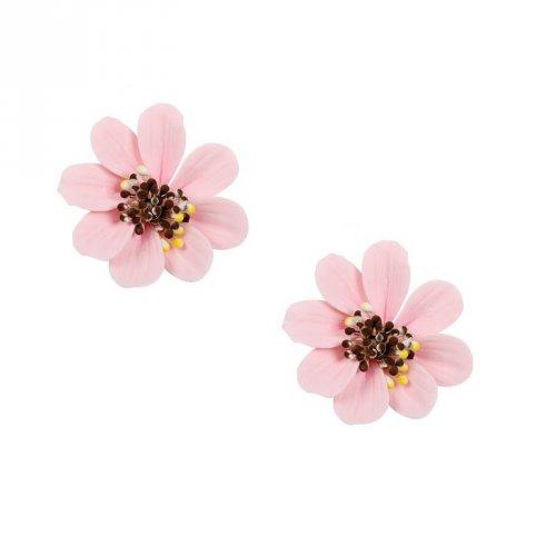 2 Fleurs Marguerite Rose (4 cm) - Non comestible