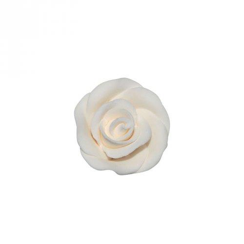 1 Mini Fleur Rose Blanche (2,5 cm) - Non comestible