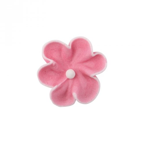4 Petites Fleurs Rose (2,5 cm) - Sucre