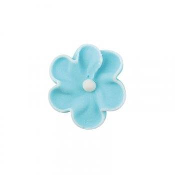 4 Petites Fleurs Bleu (2,5 cm) - Sucre